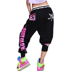 Women's Hip Hop Harem Dance Pants Sagging  Loose Jump Pants