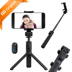 Original Selfie Stick Bluetooth Foldable Tripod Selfiestick Wireless Shutter 360 Rotation for iPhone & Android