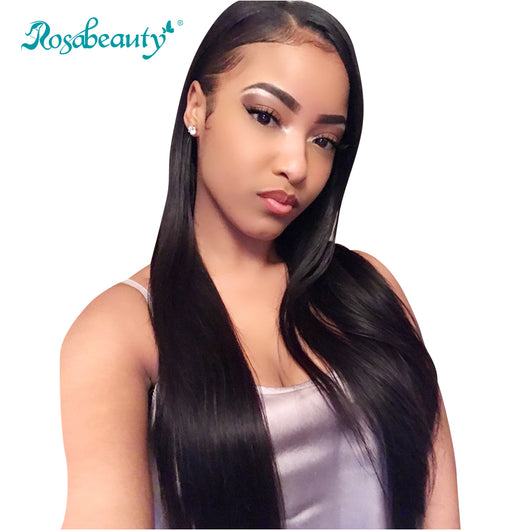 Haute Hair Lace Front Human Hair Wigs with Baby Hair Straight Hair Wigs 130% Density Brazilian Remy