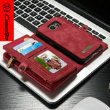 S7 Case Luxury Genuine Leather Material Detachable 2 in 1 Wallet+Cash Slots, New for iphone 6 6plus