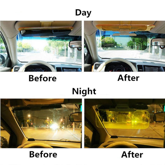 ... Anti-Glare Auto HD Sun Visor For Day and Night Vision Driving Gives HD  Clear ... 77f4546d7e0