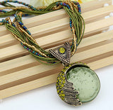 New Fashion Bohemian Jewelry Exquisite  Long Stone Necklaces for Women