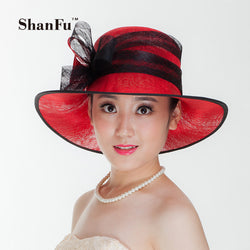 ShanFu Vintage Sinamay Fascinator Hat for Grand National Kentucky Derby and the Melbourne Cup Women Hair Accessories SFH9154