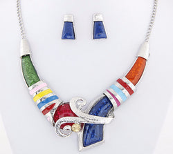 African Jewelry Set Crystal Pendant Necklace Set  Jewelry Set