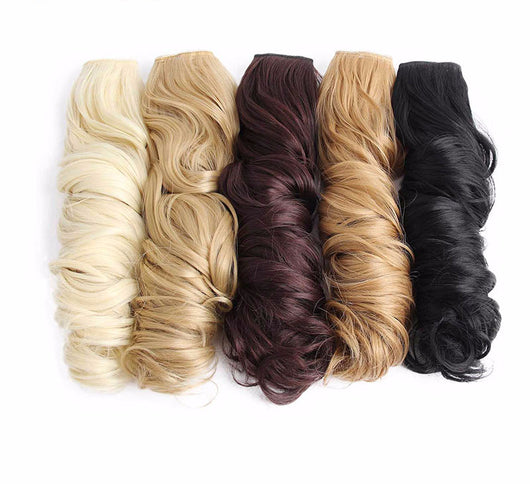Haute Hair  Long Wavy High Temperature Fiber Synthetic Clip in Hair Extensions for Women 16 Colors