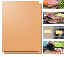 Copper BBQ Grill Mat Or Baking Sheet Barbecue Roast Sheet Portable Easy Clean Grill Pad BBQ Tool