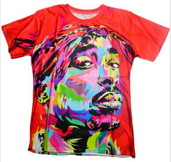 Hip Hop Men/Women Fashion T-shirt 3D print Tupac 2pac hip hop tee shirts plus size