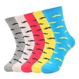 Cotton Fashion Men Dress Socks 5 pairs Multi-Colored Compression High Quality Brand Non-slip Autumn/Winter Fashion Socks 5 Pairs/lot