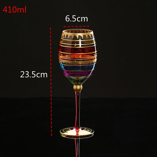 Crystal Color Red Wine Glass Goblets Cocktail Glass Creative  for Bar Wedding Birthday or Gift