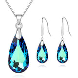 Crystal Jewelry Set New Drop Necklace Earring Sets For Woman