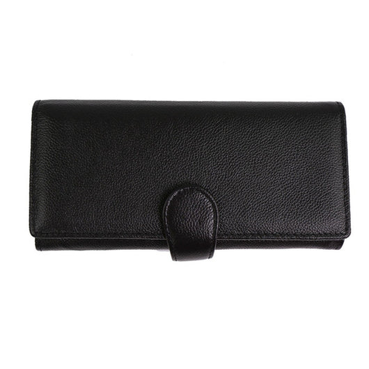 Womens Trifold RFID Wallet Best RFID Blocking Identity Safe Wallet Credit Card Case Holder Made of Genuine Leather