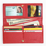 Women's RFID Blocking Wallet Clutch Long Bifold Genuine Leather Credit Card Holder