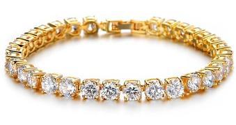 Luxurious Cubic Zirconia Tennis Bracelet Elegant Style Gift for Wedding Engagement or Birthday