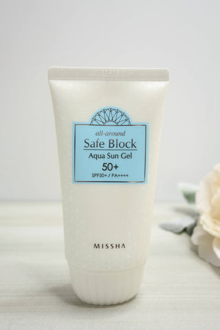 Skincare - Missha All Around Safe Block Aqua Sun Gel - SPF 50+ PA++++