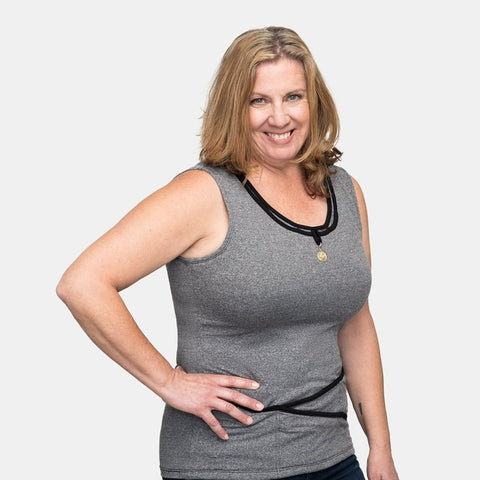 Seriously Soft™ TuckTop™ Tank - Steel Grey in S to XL