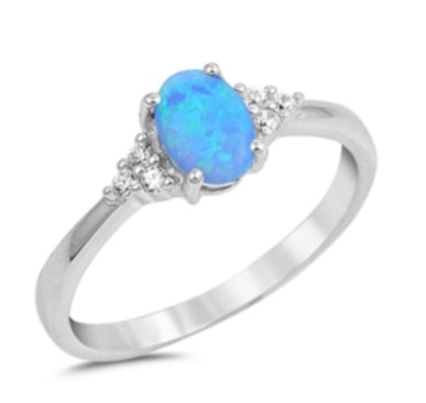 Mandy's Spring Opal Ring in Blue