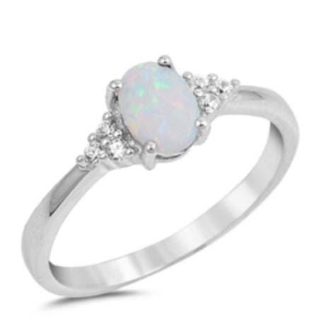 Mandy's Spring Opal Ring in White