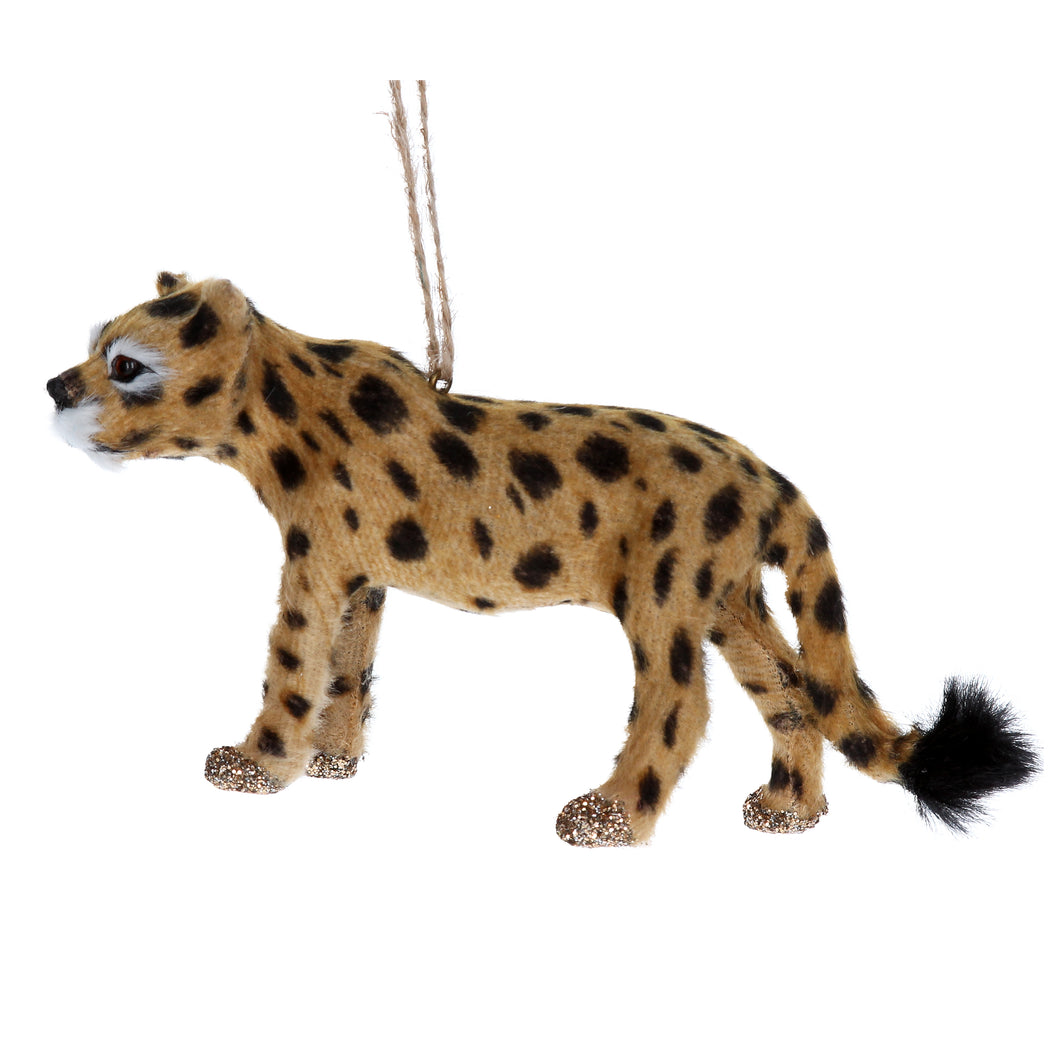 Cheetah Christmas Tree Decoration