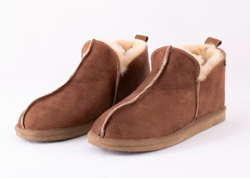 Womens Annie Slippers - Antique Cognac