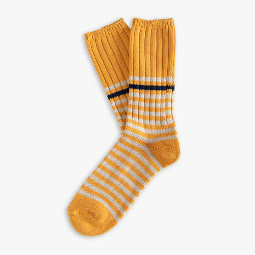 Marine Stripe Socks - Yellow & White