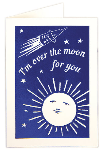 Over The Moon Card - LilyKing