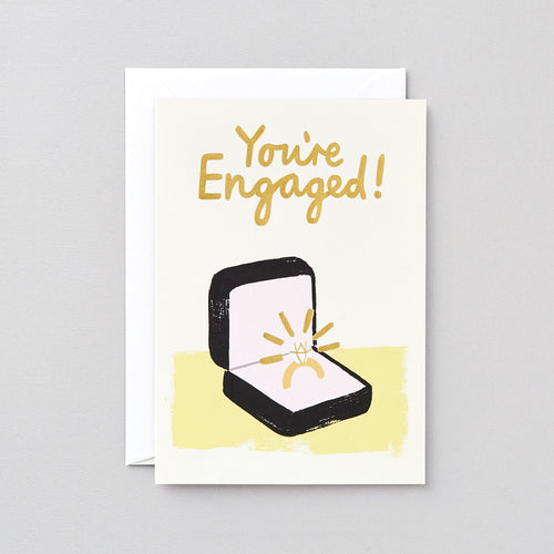 You're Engaged Greeting Card - LilyKing