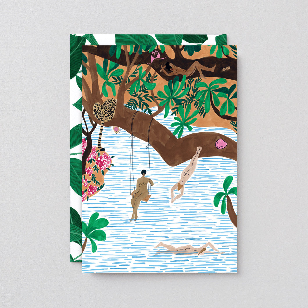 Jungle Beach Art Card - LilyKing