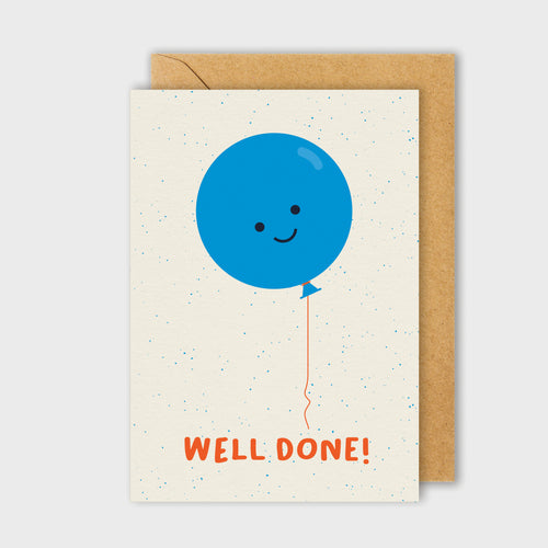 Well Done Balloon Card