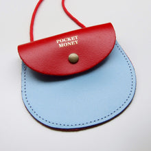 Pocket Money Purse - Red / Light Blue - LilyKing
