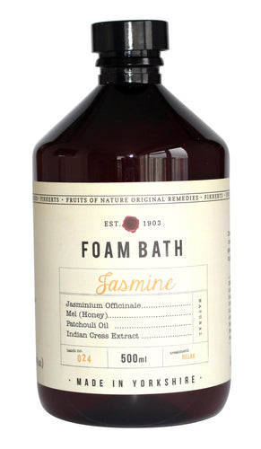 Jasmine Natural Foam Bath by Yorkshire Brand Fikkerts - LilyKing