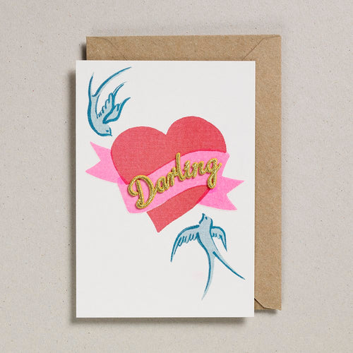 Darling Embroidered Card