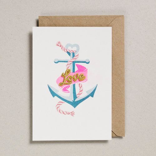 Love Anchor Embroidered Card
