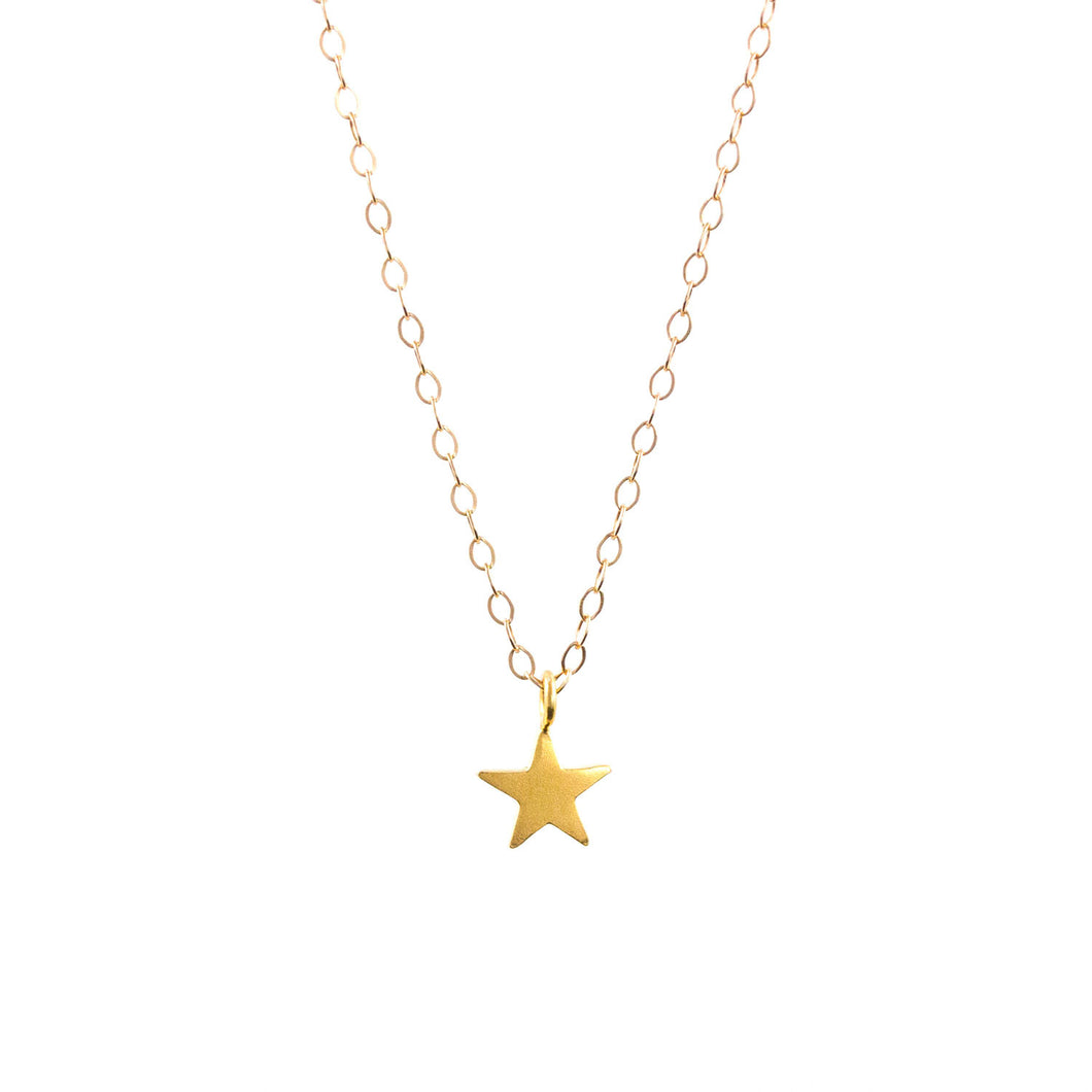 Lily King - Delicate Gold Vermeil star charm, attached to a 14k Gold Filled cable chain. Fastens with a spring clasp.