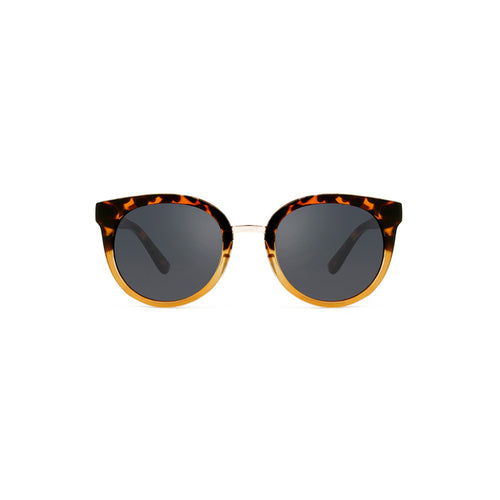 Gray sunglasses in Demi Tortoise Yellow by Danish brand A.Kjaerbede