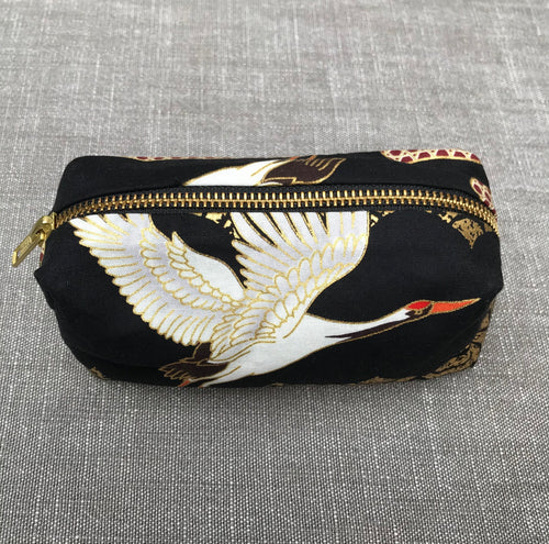 Japanese Art Deco Crane Zip Pouch
