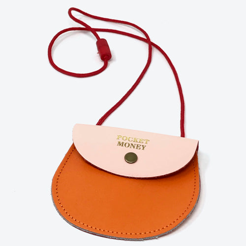 Pocket Money Purse - Orange / Pale Pink - LilyKing