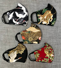 Handmade 100% cotton reusable face masks in Japanese inspired fabrics
