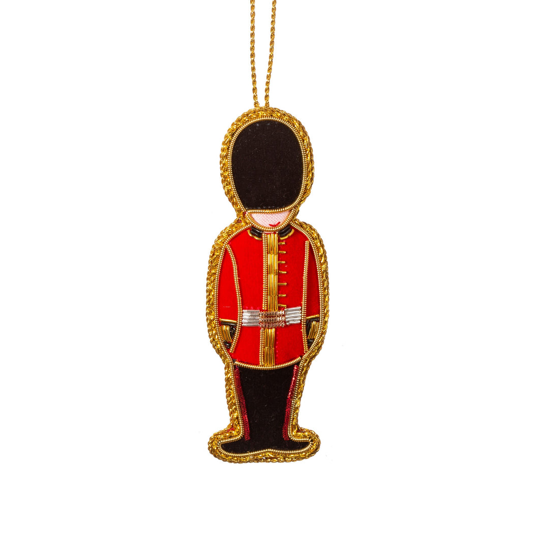 Embroidered London Royal Guard Christmas Tree Decoration