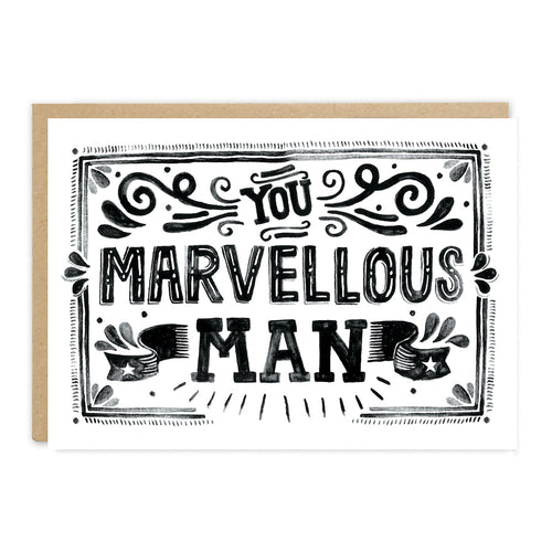 'You Marvellous Man' Card - LilyKing