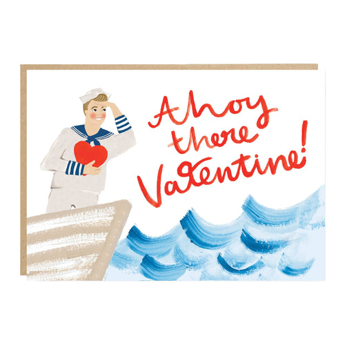 Ahoy There Valentine Card