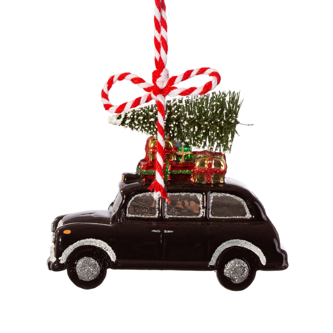 London Black Taxi Christmas Tree Decoration