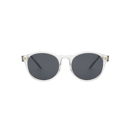 Marvin sunglasses in transparent Crystal by Danish brand A.Kjaerbede