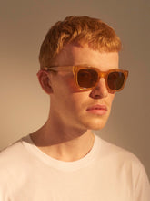 Unisex sunglasses in Light Brown Transparent by independent brand A.Kjaerbede