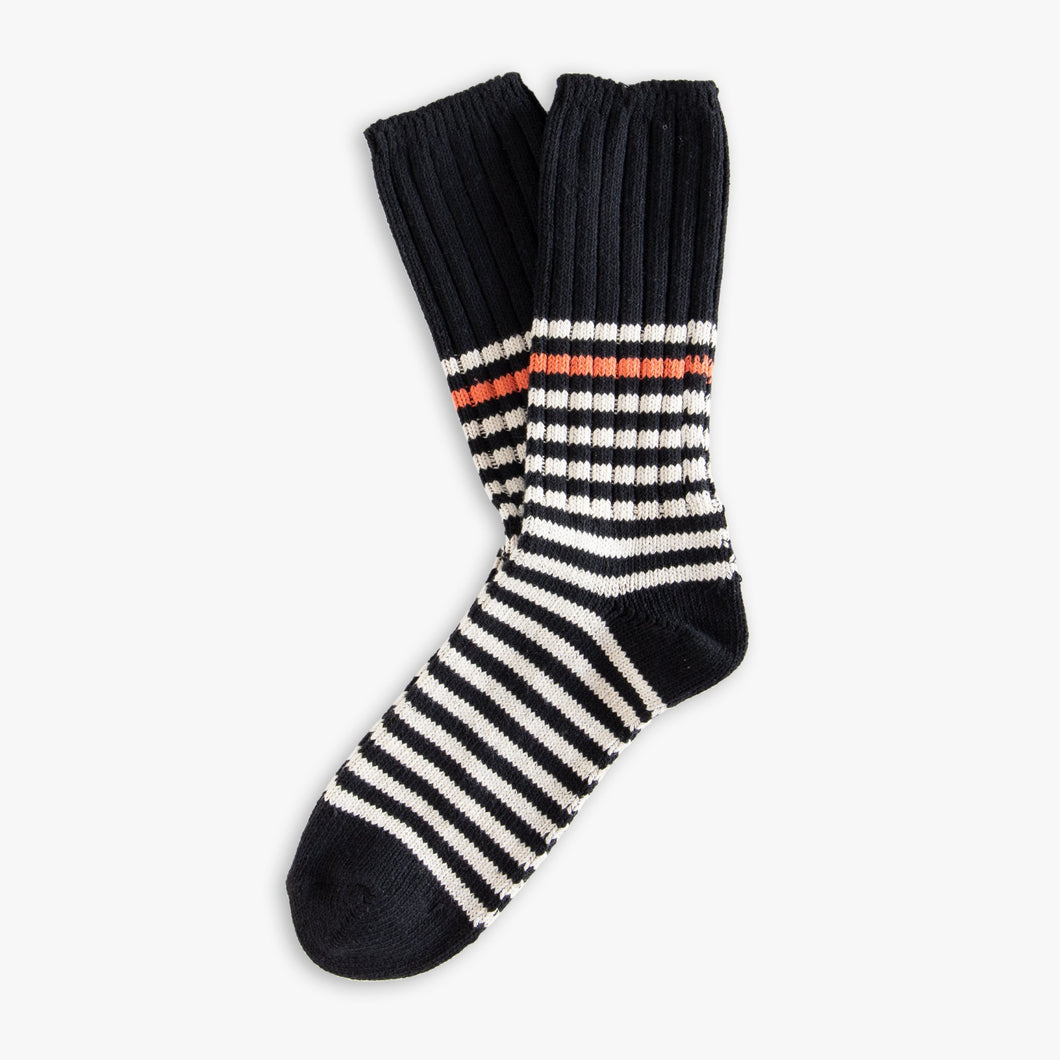 Marine Stripe Socks - Black & White