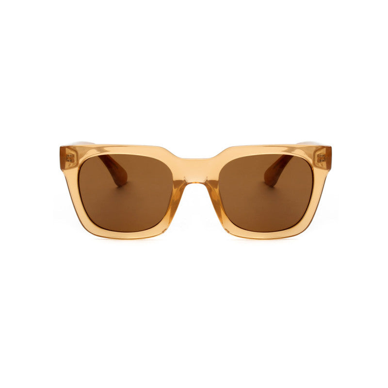Nancy sunglasses in Light Brown Transparent by Danish brand A.Kjaerbede
