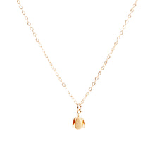 Lily King - 24k Gold Vermeil delicate flower bud charm, attached to a 14k Gold Filled cable chain. Fastens with a spring clasp.