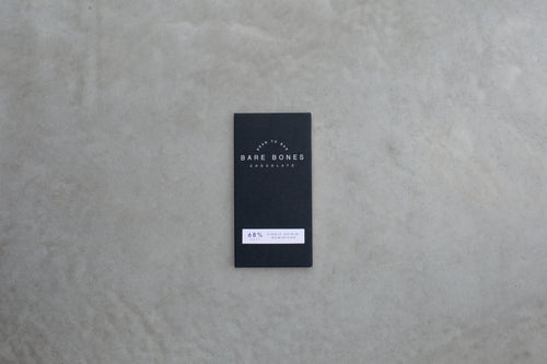 a bar of artisan salted dark chocolate by independent brand Bare Bones