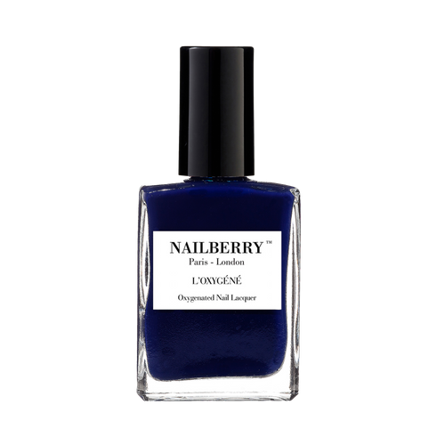Number 69 navy blue nail polish by independent beauty brand Nailberry