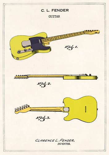 Fender Telecaster Card - LilyKing