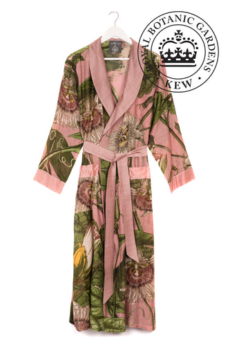 Kew Passion Flower Gown - Pink - LilyKing